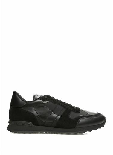 Valentino Garavani Valentino Garavani Noir Kamuflaj Desenli Erkek Deri Sneaker 101365681 Siyah